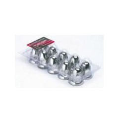 Hub Pilot 33mm Stainless Lug Cover with flange (10 pack)